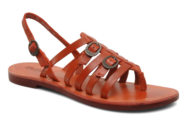 Sandales et nu-pieds Kickers Dixmille Rouge vue détail/paire