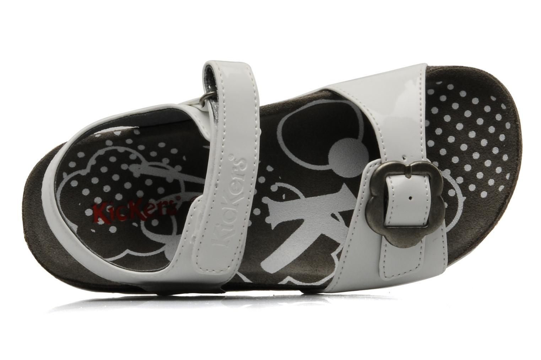 Sandales et nu-pieds Kickers MAZARINE Blanc vue gauche