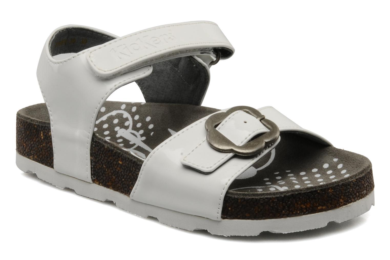 Sandales et nu-pieds Kickers MAZARINE Blanc vue détail/paire