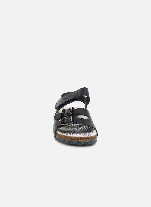 Sandales et nu-pieds Kickers MAGINATION Bleu vue portées chaussures