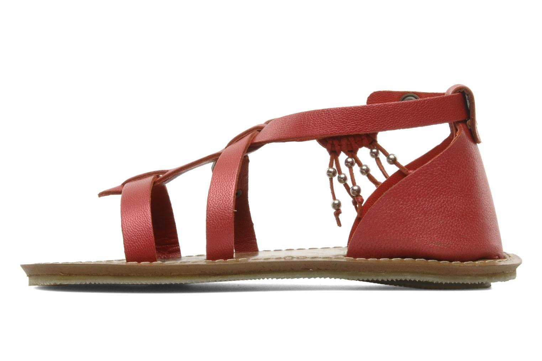 Sandales et nu-pieds Kickers LIOUKA Rouge vue face