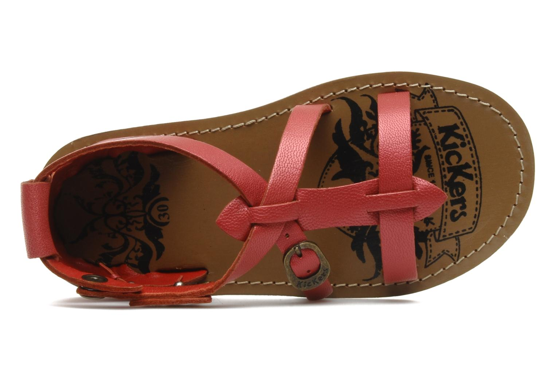 Sandales et nu-pieds Kickers LIOUKA Rouge vue gauche