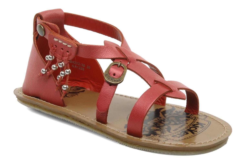 Sandales et nu-pieds Kickers LIOUKA Rouge vue détail/paire