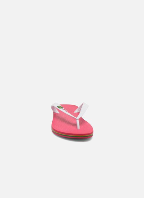 Tongs Ipanema Classica Brasil II f Rose vue portées chaussures