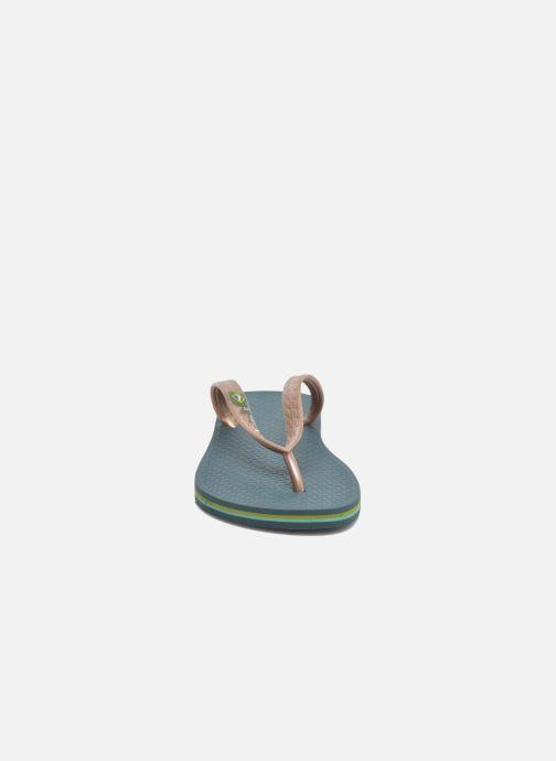 Tongs Ipanema Classica Brasil II f Vert vue portées chaussures