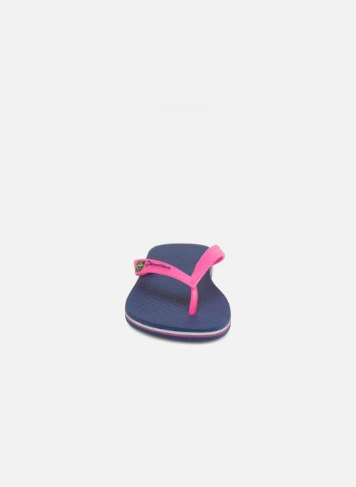 Tongs Ipanema Classica Brasil II f Bleu vue portées chaussures