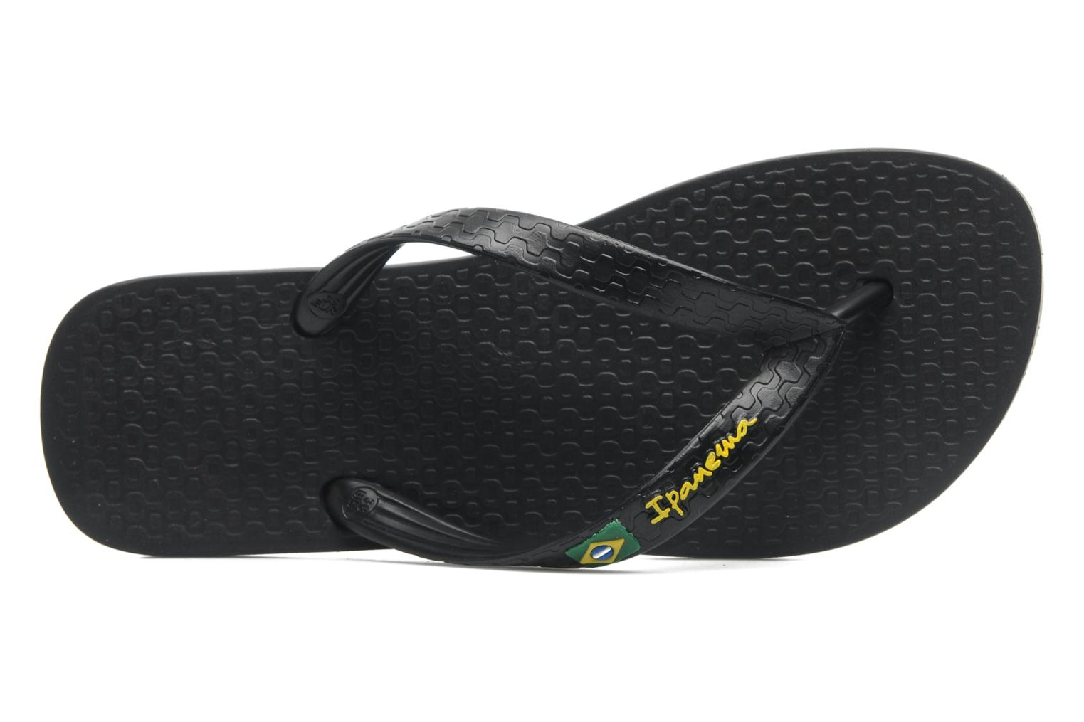 Flip flops Ipanema Classica Brasil II f Black view from the left