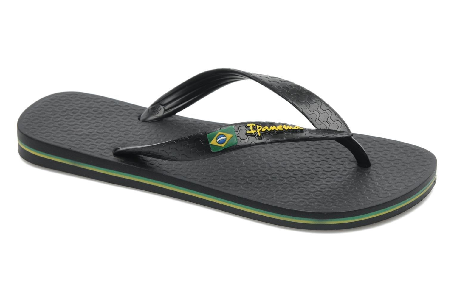 Flip flops Ipanema Classica Brasil II f Black detailed view/ Pair view
