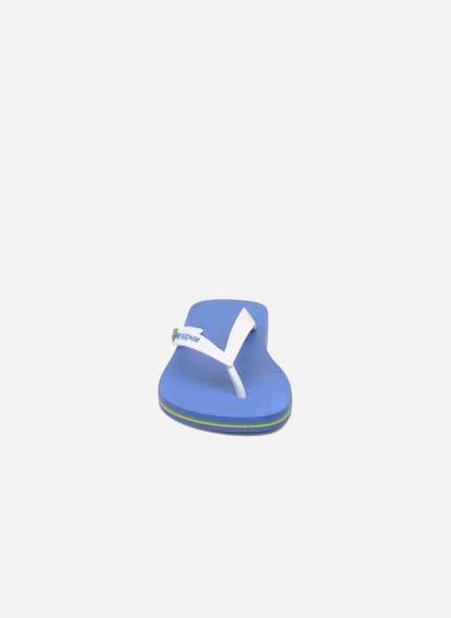 Tongs Ipanema Classic Brasil II M Bleu vue portées chaussures