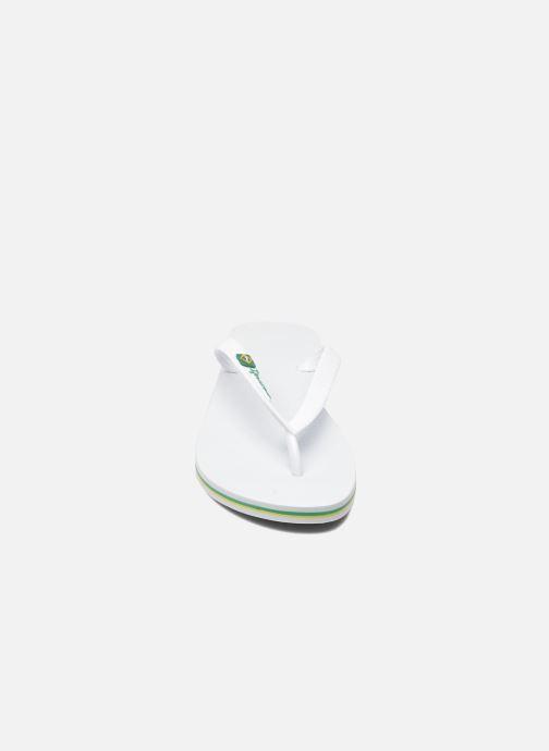 Tongs Ipanema Classic Brasil II M Blanc vue portées chaussures
