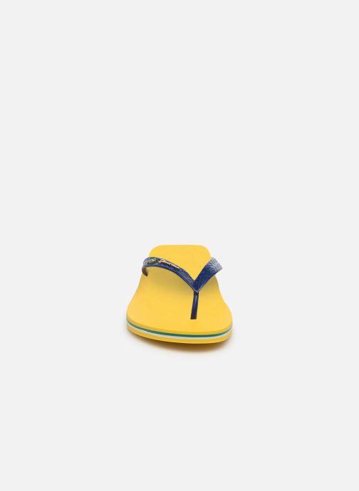 Tongs Ipanema Classic Brasil II M Jaune vue portées chaussures