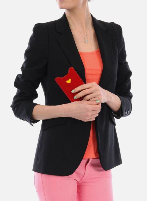 Portemonnaies & Clutches Mellow Yellow LISTELOR rot ansicht von unten / tasche getragen