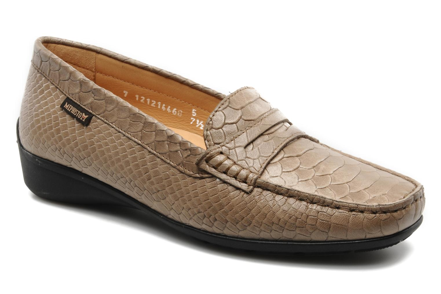 Loafers Mephisto Ninon Brown detailed view/ Pair view