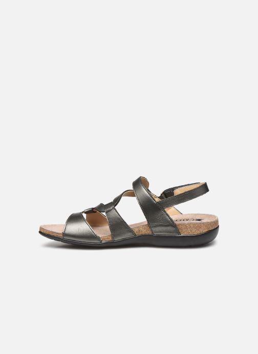 Sandales et nu-pieds Mephisto Adelie Gris vue face