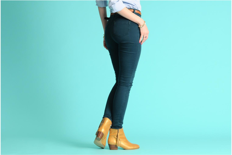 Bottines et boots Georgia Rose Timalo Noir vue bas / vue portée sac