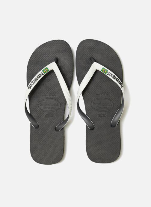 Tongs Havaianas Brasil Mix H Noir vue portées chaussures