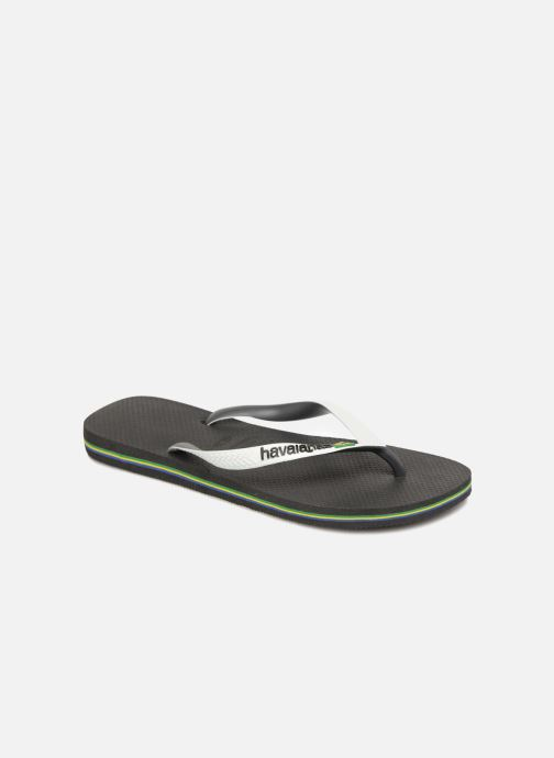 36c6c9b6bcfecb Havaianas Brasil Mix H (Black) - Flip flops chez Sarenza (312958)