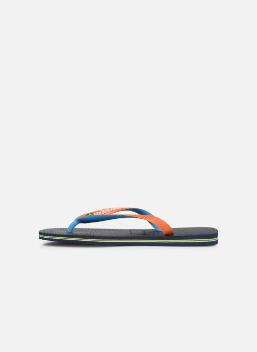 Slippers Havaianas Brasil Mix H Blauw voorkant