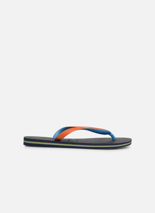Slippers Havaianas Brasil Mix H Blauw achterkant