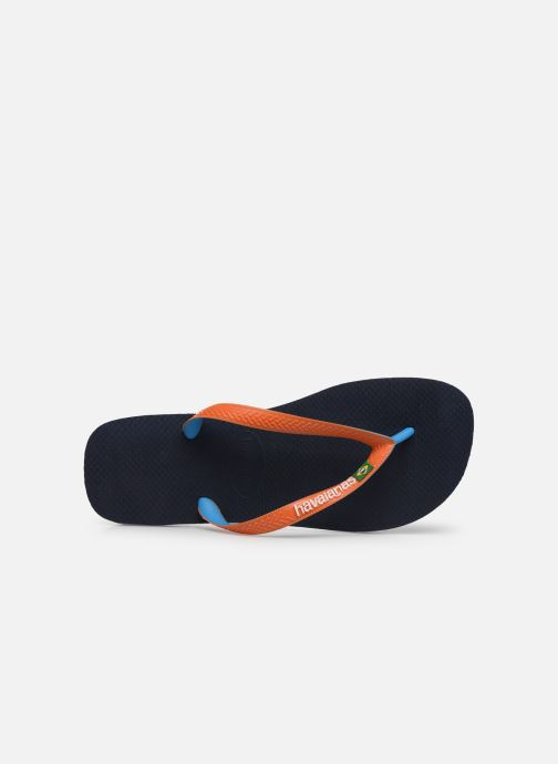 Flip flops Havaianas Brasil Mix H Blue view from the left