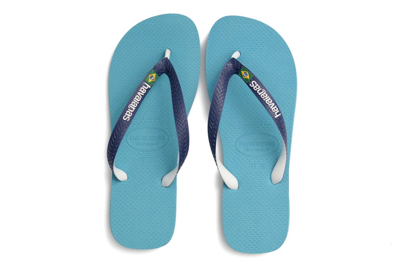 Tongs Havaianas Brasil Mix H Bleu vue 3/4
