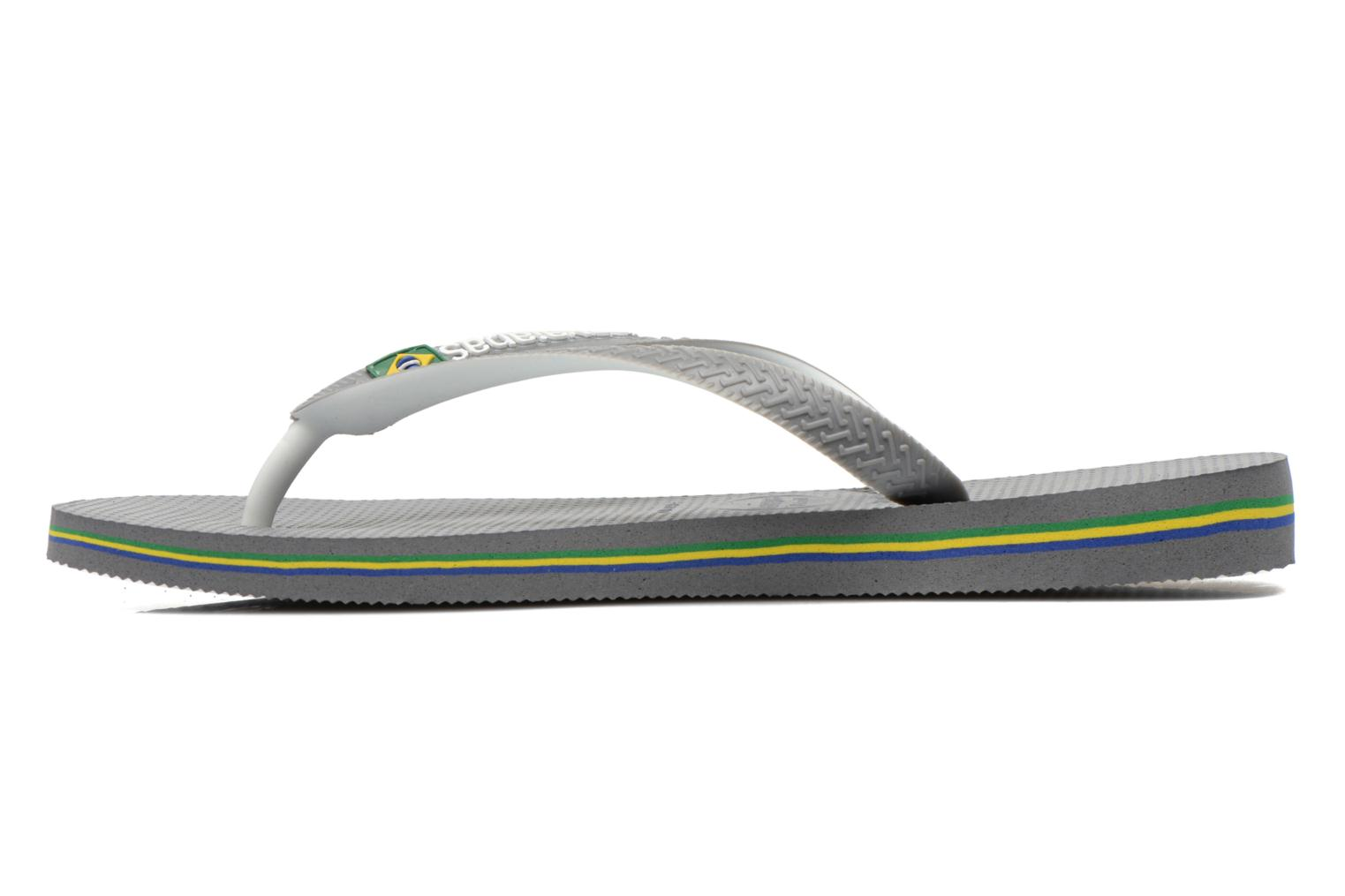 Tongs Havaianas Brasil Mix H Gris vue face
