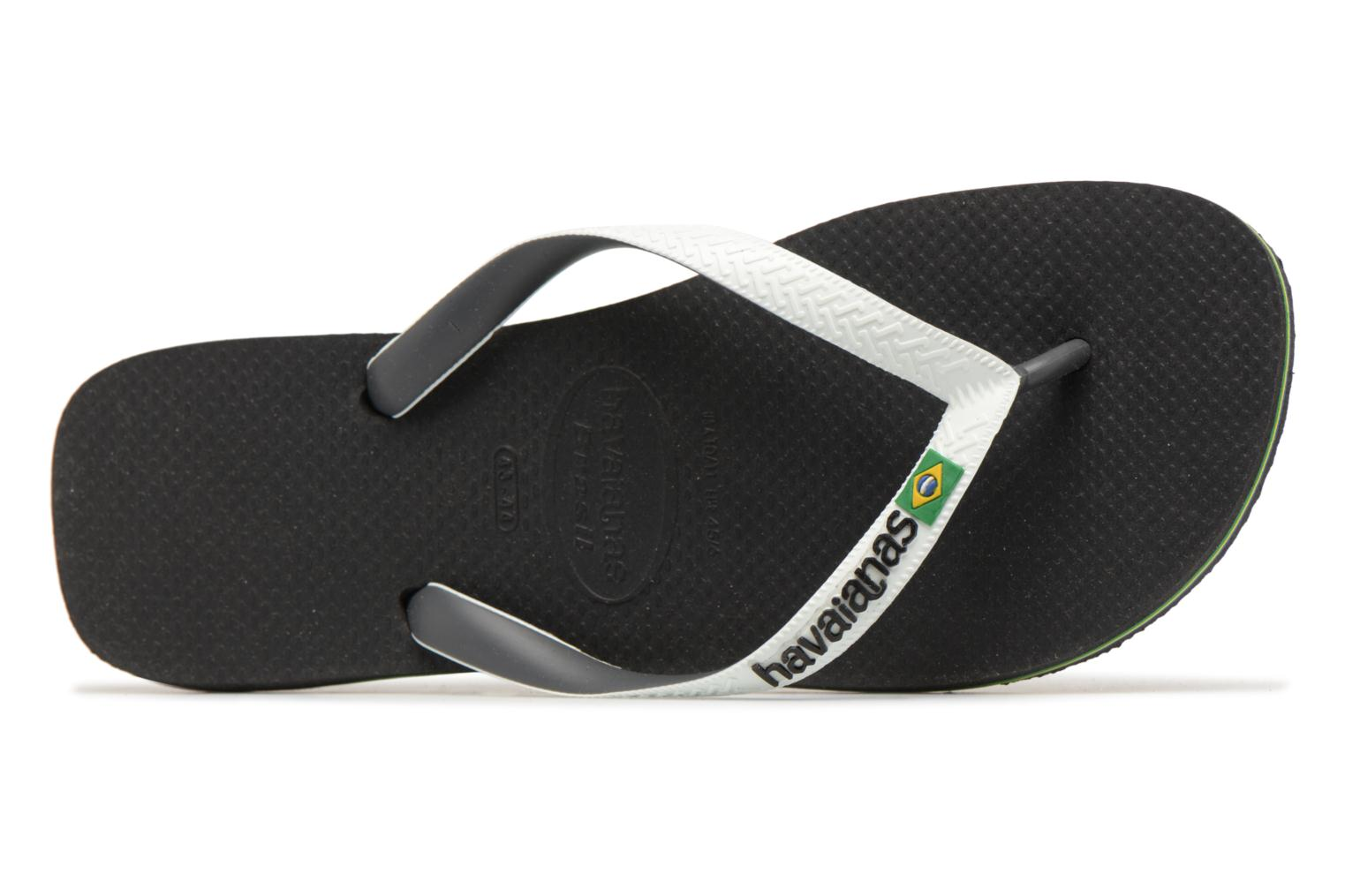 Flip flops Havaianas Brasil Mix H Black view from the left