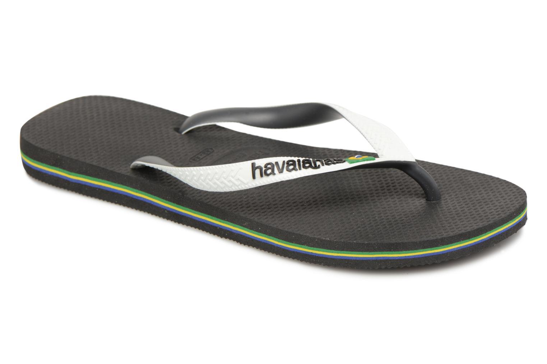 Flip flops Havaianas Brasil Mix H Black detailed view/ Pair view