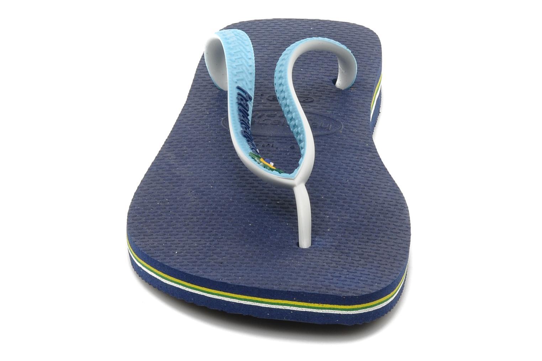 Zehensandalen Havaianas Brasil Mix H blau schuhe getragen
