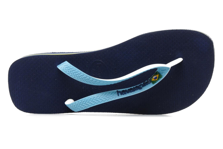 Tongs Havaianas Brasil Mix H Bleu vue gauche