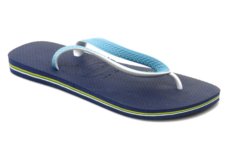 Zehensandalen Havaianas Brasil Mix H blau detaillierte ansicht/modell