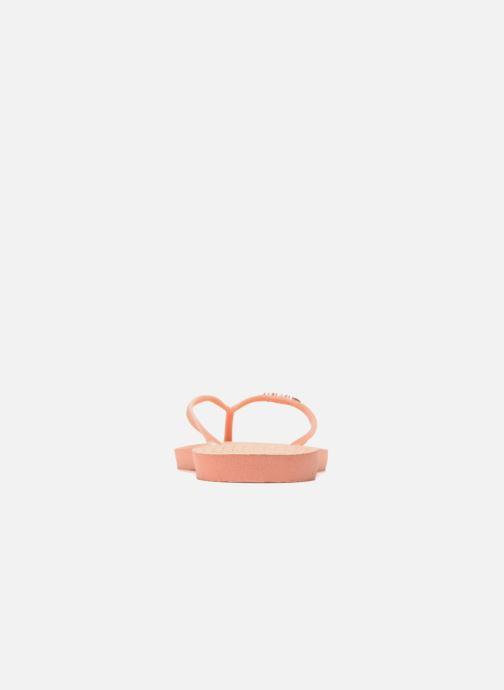 Zehensandalen Havaianas Slim Logo Metallic rosa ansicht von rechts