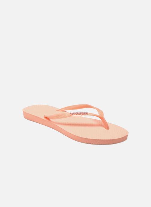 1203d84d64bf5e Havaianas Slim Logo Metallic (Pink) - Flip flops chez Sarenza (251835)