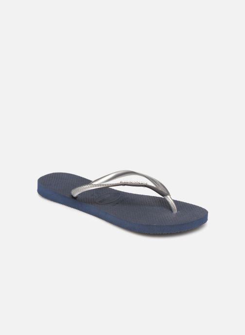 Slippers Havaianas Slim Logo Metallic Blauw detail
