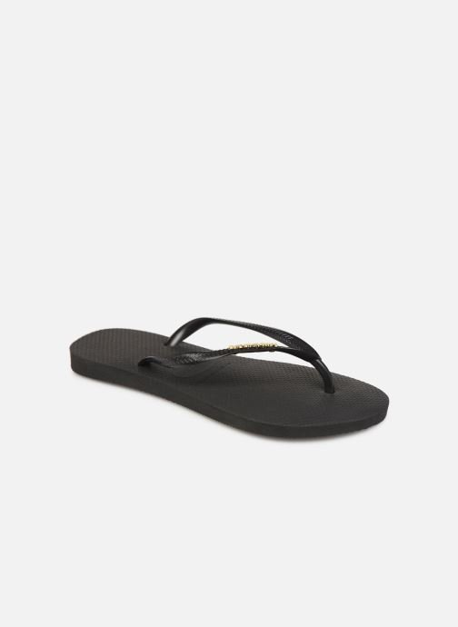 Slippers Havaianas Slim Logo Metallic Zwart detail