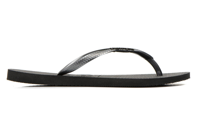 Flip flops & klipklapper Havaianas Slim Logo Metallic Sort se bagfra