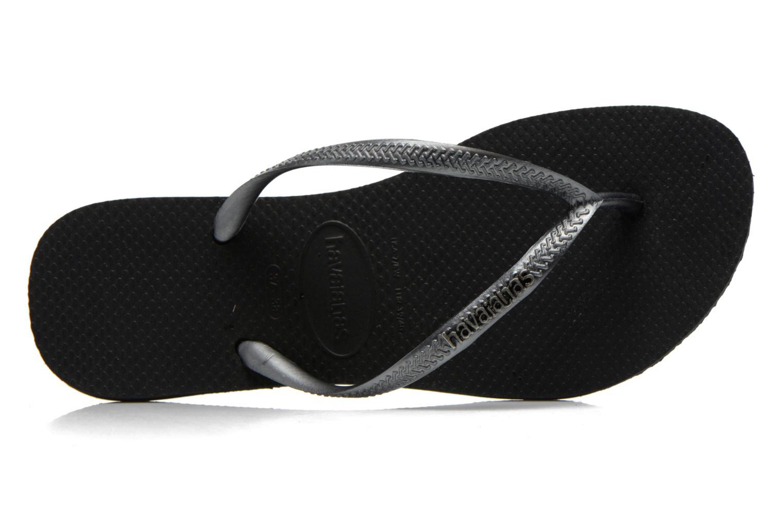 Flip flops & klipklapper Havaianas Slim Logo Metallic Sort se fra venstre
