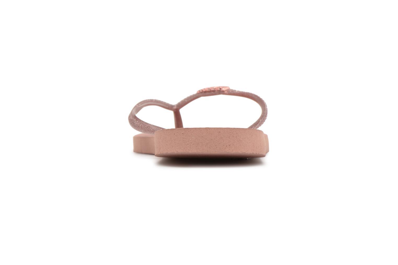 Slippers Havaianas Slim Logo Metallic Roze rechts