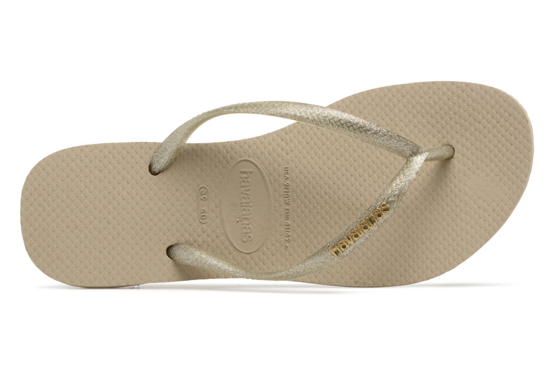 Slippers Havaianas Slim Logo Metallic Beige links