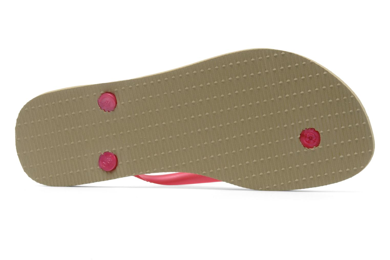 Flip flops Havaianas Slim Logo Metallic Pink view from above