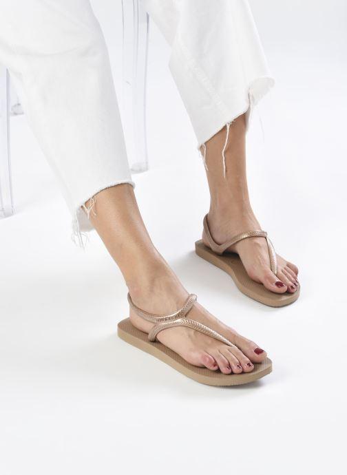 Sandales et nu-pieds Havaianas Flash Urban Rose vue bas / vue portée sac
