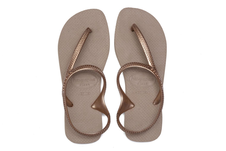 Sandales et nu-pieds Havaianas Flash Urban Or et bronze vue 3/4