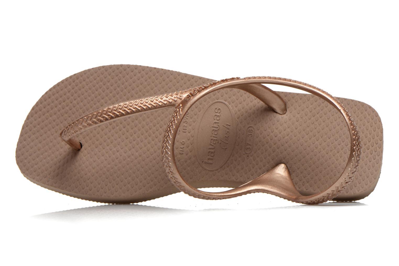 Sandales et nu-pieds Havaianas Flash Urban Or et bronze vue gauche