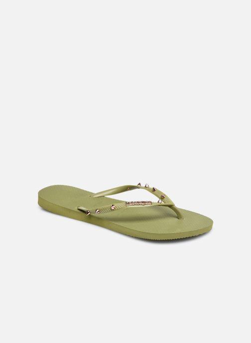 Flip flops & klipklapper Havaianas Slim Hardware Grøn detaljeret billede af skoene