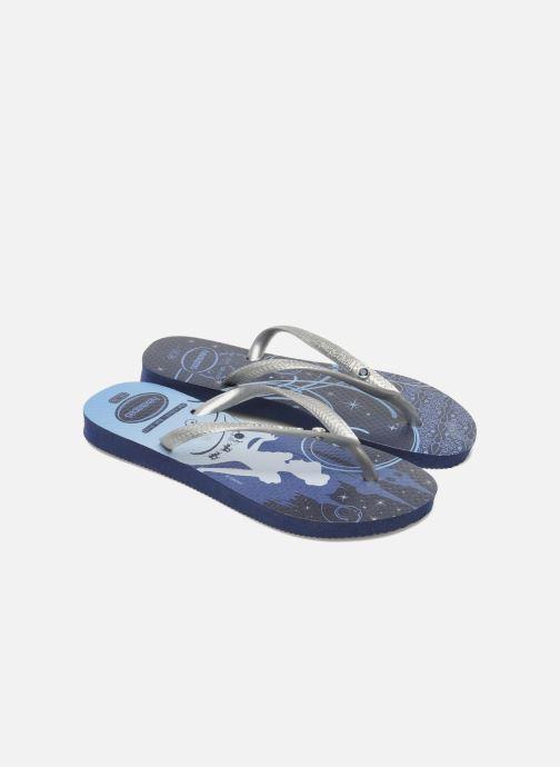 Tongs Havaianas Kids Slim Princess Bleu vue détail/paire