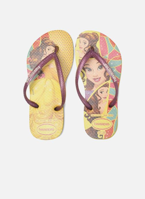 Chanclas Havaianas Kids Slim Princess Amarillo vista 3/4