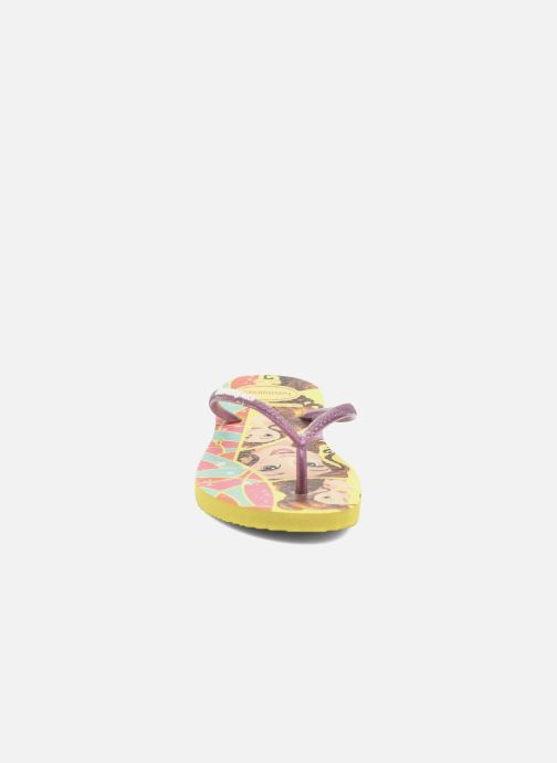 Chanclas Havaianas Kids Slim Princess Amarillo vista del modelo