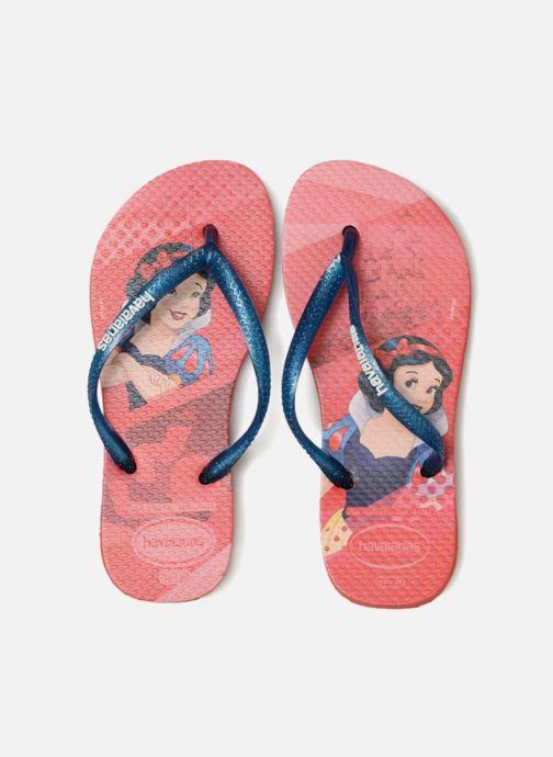 Zehensandalen Havaianas Kids Slim Princess rot schuhe getragen