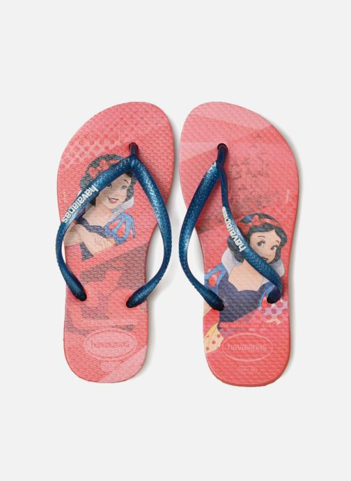 Chanclas Havaianas Kids Slim Princess Rojo vista del modelo