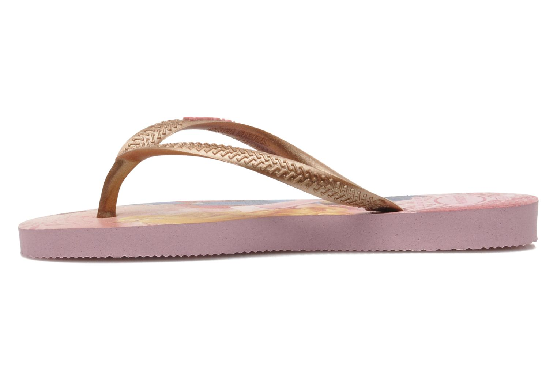 Flip flops Havaianas Kids Slim Princess Pink front view